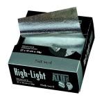 Алуминиево фолио за кичури  27 см х 12 см / 14 микрона нарязано -300 броя