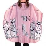 Детска пелерина 02508-70 розова с кученца 120 х 95