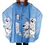 Детска пелерина 02508-75 синя с кученца 120 х 95