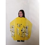 Детска пелерина 02508-61 жълта с кученца 120 х 95