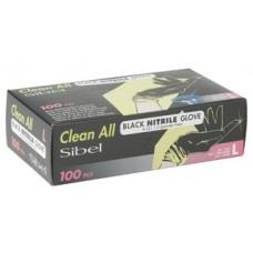 Ръкавици -SIBEL черни Нитрил 100 бр. в кутия - размер L