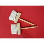 Четка за врат дървена с дълга дръжка, естествен косъм